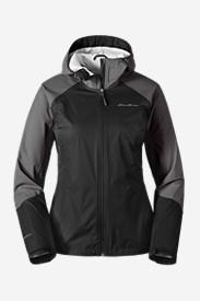 Women's Cloud Cap Flex Rain Jacket in Black