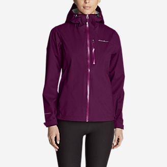 Women's Cloud Cap Stretch Rain Jacket in Purple