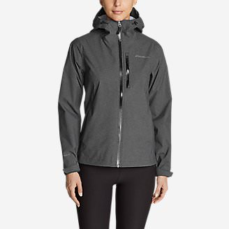 Women's Cloud Cap Stretch Rain Jacket in Gray