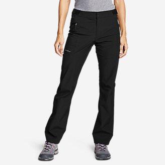 Women's Cloud Cap Stretch Rain Pants in Black