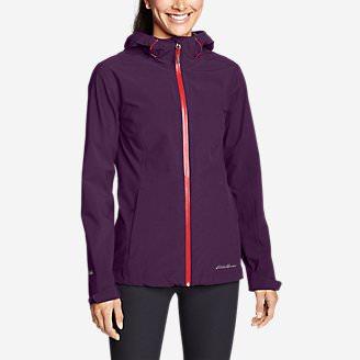 Women's Cloud Cap 2.0 Stretch Rain Jacket in Purple