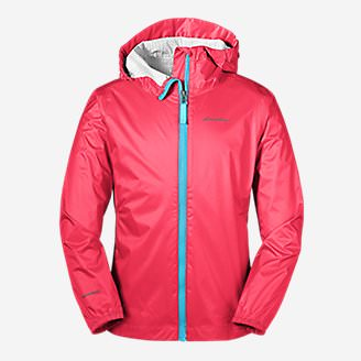 Girls' Cloud Cap Rain Jacket in Red