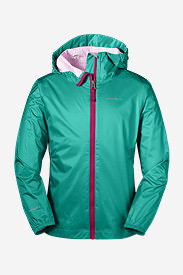 Girls' Cloud Cap Rain Jacket in Green