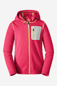 Girls' Cloud Layer Hoodie in Red