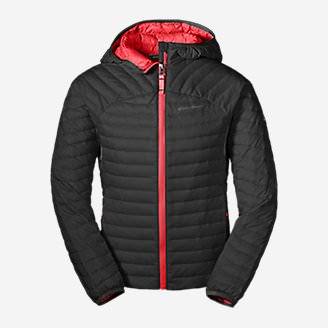 Girls' MicroTherm® Hooded Jacket in Black