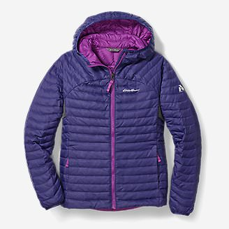 Girls' MicroTherm Hooded Jacket in Blue