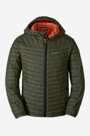 Boys' MicroTherm Hooded Jacket in Green