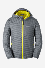 Boys' MicroTherm Hooded Jacket in Gray