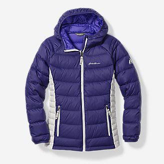Girls' Downlight Hooded Jacket in Blue