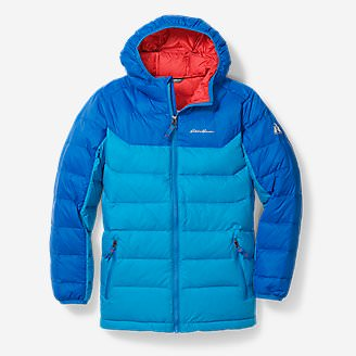 Boys' Downlight Hooded Jacket in Blue