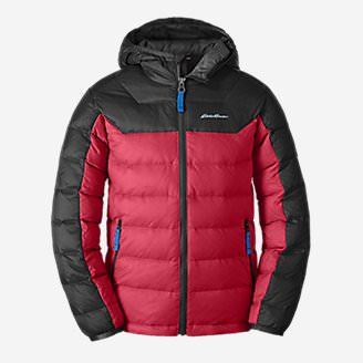 Boys' Downlight Hooded Jacket in Red