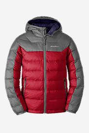 Boys' Downlight Hooded Jacket in Red