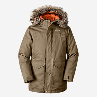 Boys' Superior Down Parka in Brown