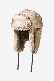 Truckee Faux Fur Trapper Hat in White