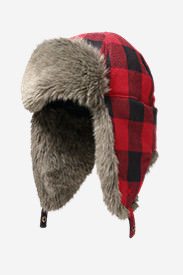 Hadlock Trapper Hat in Red