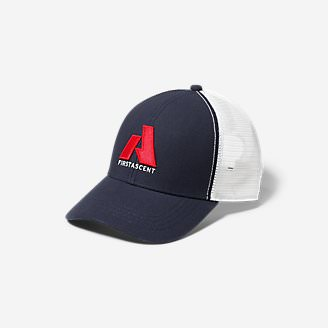 Graphic Hat - First Ascent in Blue