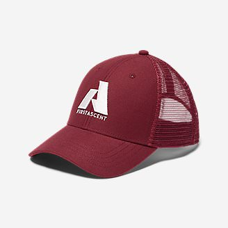 Graphic Hat - First Ascent in Red