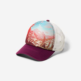 Graphic Hat - Sublimated Landscape in Red