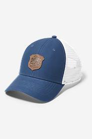Graphic Cap - Debossed Shield in Blue