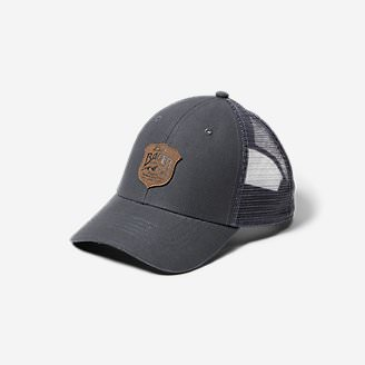 Graphic Cap - Debossed Shield in Gray