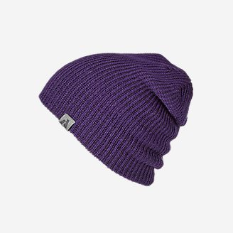 First Ascent Slouch Beanie in Purple