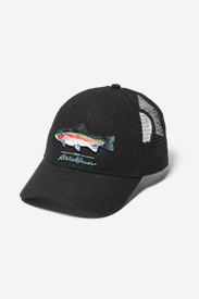 Graphic Hat - Fish in Black