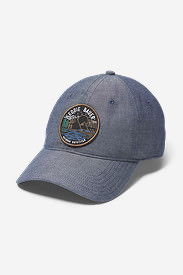 Graphic Hat - Chambray Landscape in Blue