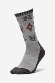Men's CoolMax Trail Crew Socks - Pattern in Gray