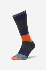 Men's Novelty Crew Socks in Black