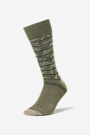 Men's Novelty Crew Socks in Green