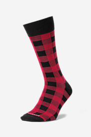 Men's Novelty Crew Socks in Red