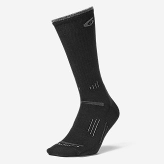 Point6 Light Hiker Crew Socks in Black