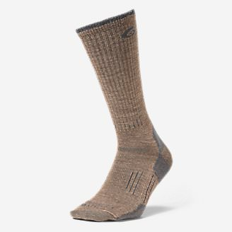Point6 Light Hiker Crew Socks in Brown