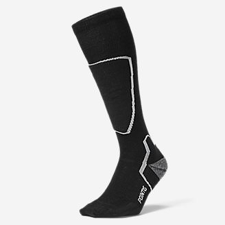 Point6 Ski Pro Light Socks in Black