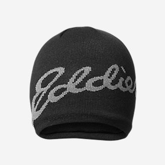 Eddie Bauer Logo Beanie in Black