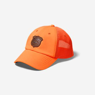 Graphic Cap - Debossed Shield in Orange