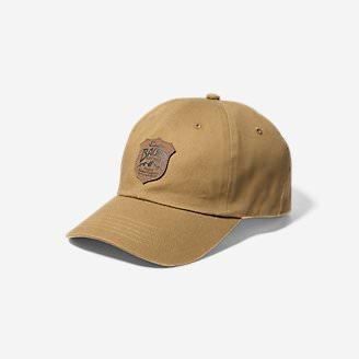 Graphic Cap - Debossed Shield in Brown