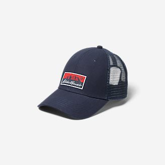 Graphic Cap - Eddie Bauer Logo in Blue
