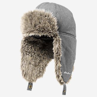 Down Aviator Hat in Gray