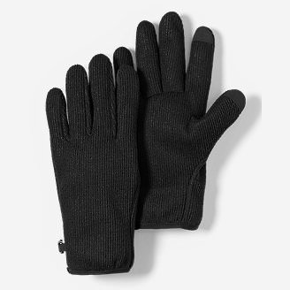 Men's Windcutter Fleece Touchscreen Gloves in Black