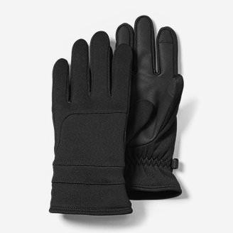 Men's Crossover Fleece Touchscreen Gloves in Black