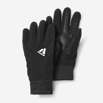 Leather Palm Mountain Gloves in Black
