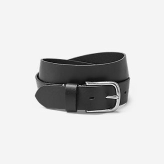 Men's  Leather Jean Belt in Black