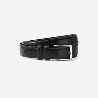Men's Feather Edge Leather Belt in Black
