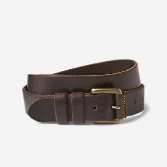 Men's American Sportsman Leather Belt in Brown