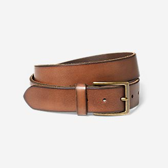 Men's Khaki Leather Belt in Brown