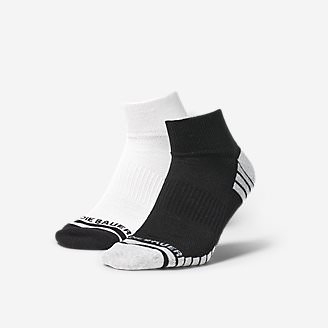Men's Active Pro COOLMAX Quarter Socks - 2 Pack in Black