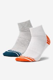 Men's Active Pro COOLMAX Quarter Socks - 2 Pack in Blue