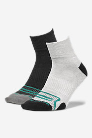 Men's Active Pro COOLMAX® Quarter Socks - 2 Pack in Green