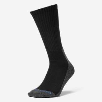 Men's Trail COOLMAX Crew Socks in Black